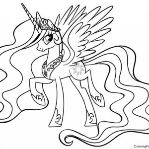 300x300 My Little Pony Coloring Pages Princess Luna And Celestia New My