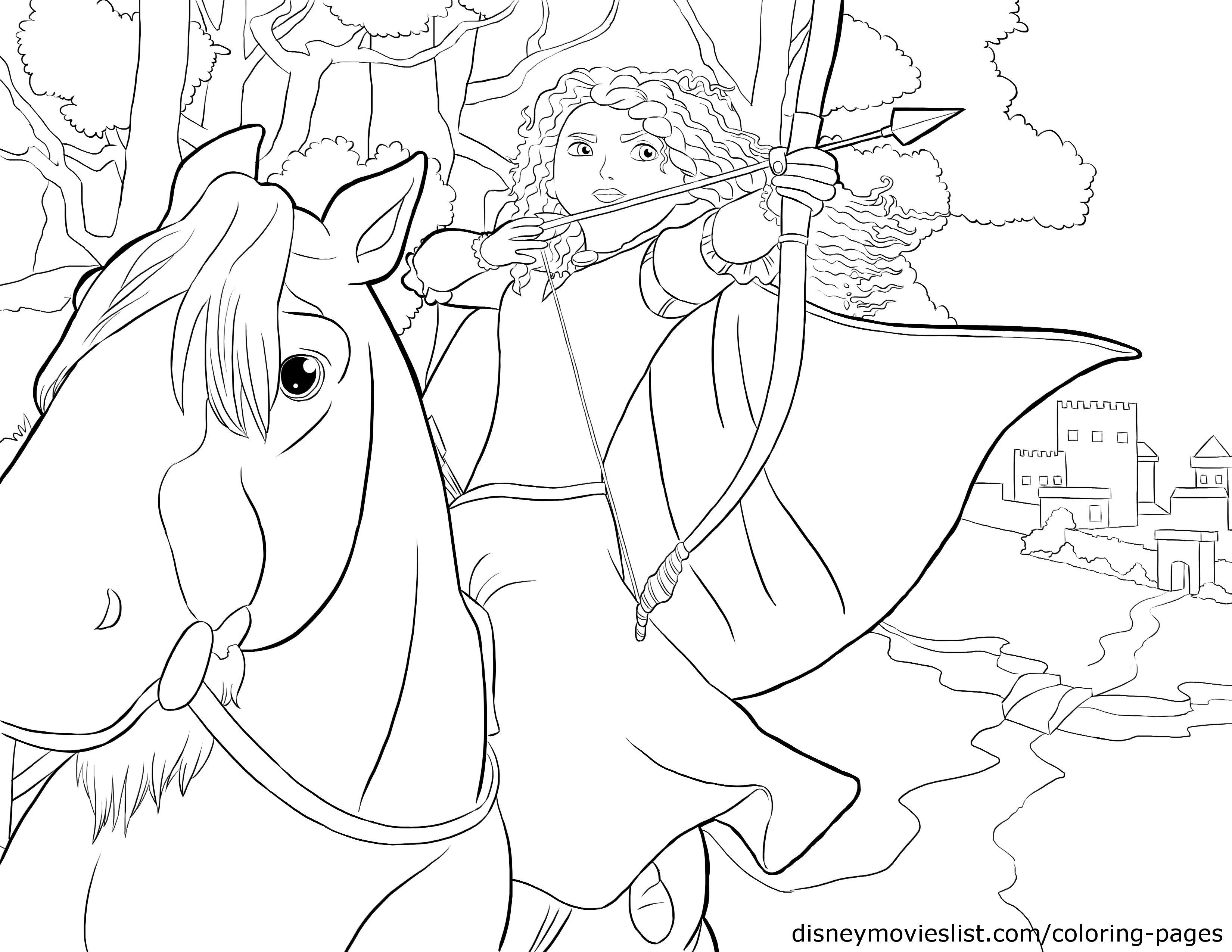 3300x2550 Disney's Bravemerida And Angus Coloring Page Disney Coloring