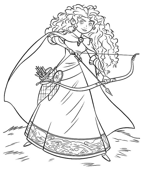 600x728 Disney Beautiful Princess Merida Coloring Pages Color Luna