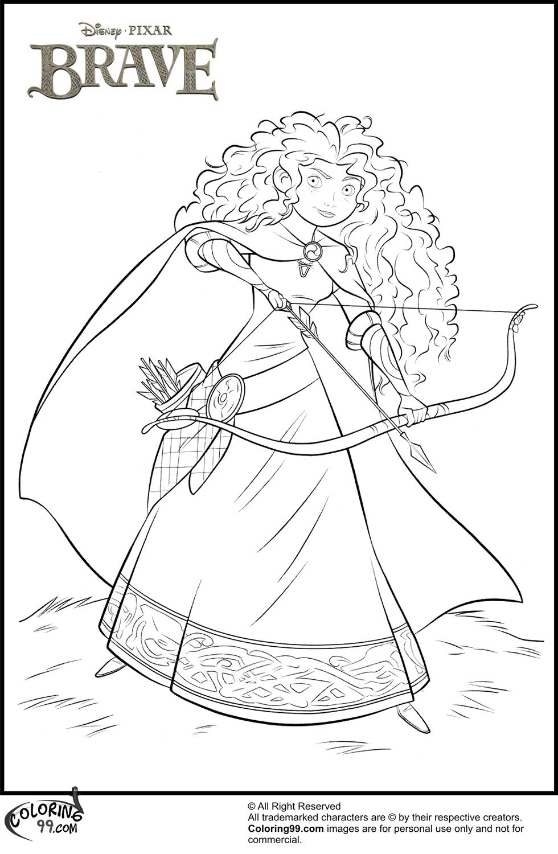 980x1500 Disney Princess Merida Coloring Pages