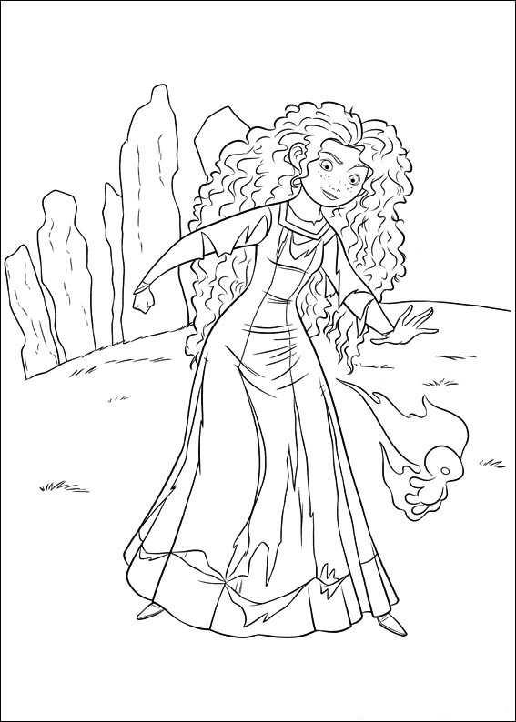 567x794 Disney Brave Coloring Pages Princess Merida