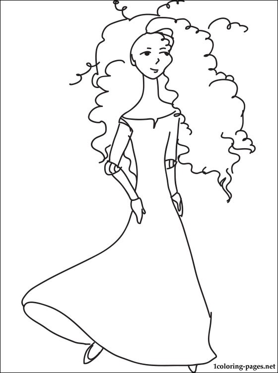 560x750 Princess Merida Brave Coloring Page Coloring Pages