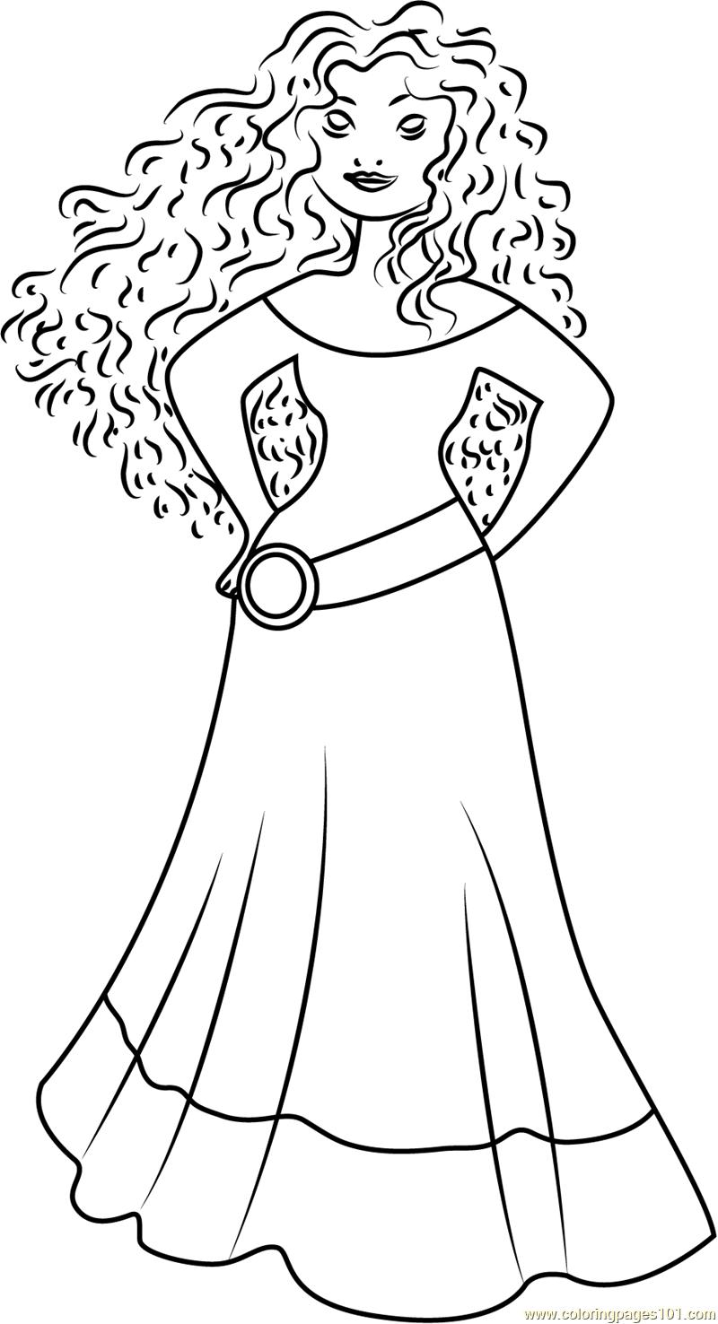 800x1476 Princess Merida Coloring Page