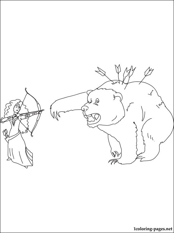 560x750 Princess Merida And Mor'du Coloring Page Coloring Pages