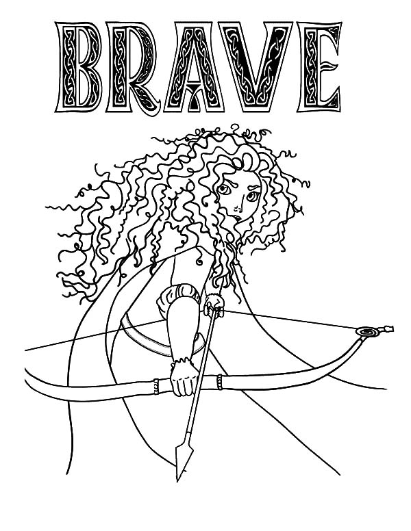 600x776 Princess Merida In Brave The Movie Coloring Pages Color Luna