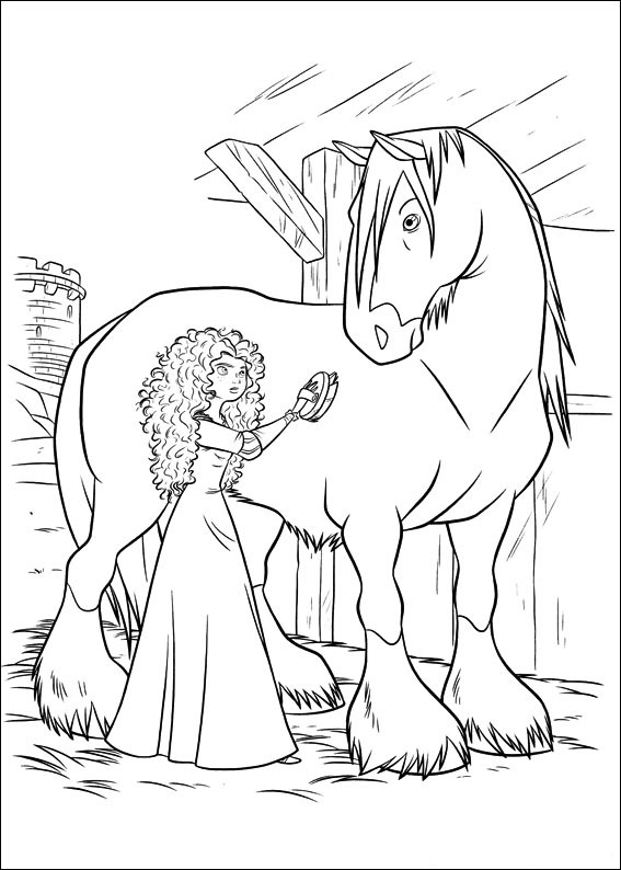 567x794 Brave Coloring Pages Princess Merida Coloring Pages For Kids
