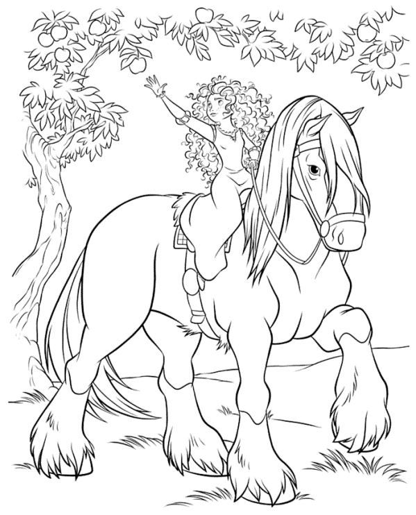 599x742 Coloring Page Brave