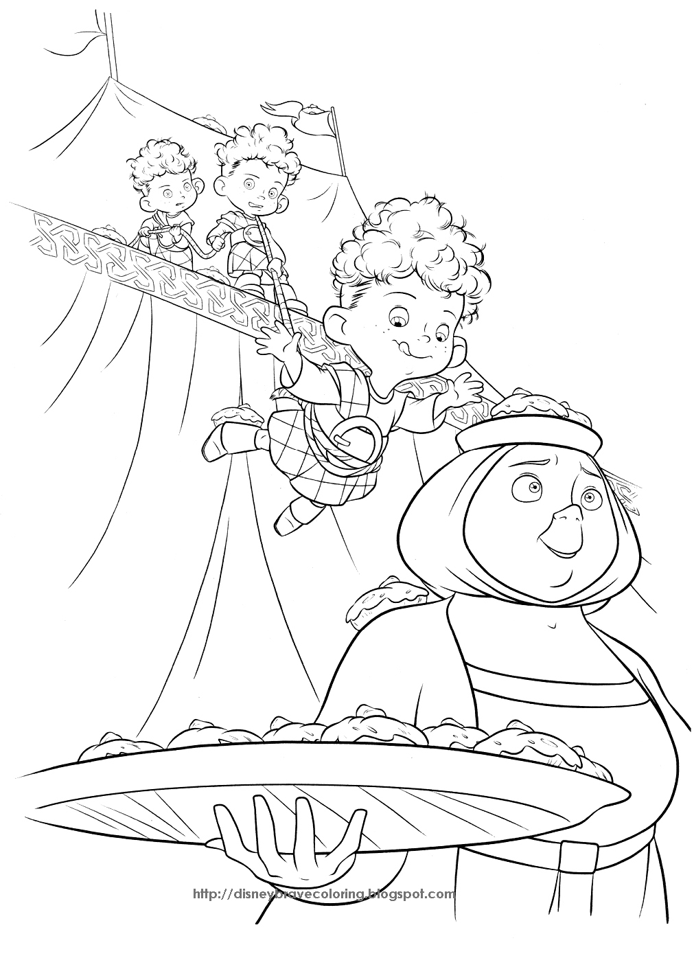 1011x1392 Brave Merida Coloring Pages