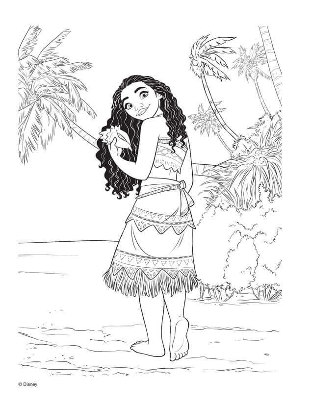 graphic relating to Printable Moana called Princess Moana Coloring Web pages at  Free of charge for