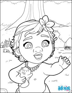 Princess Moana Coloring Pages At Getdrawingscom Free For Personal