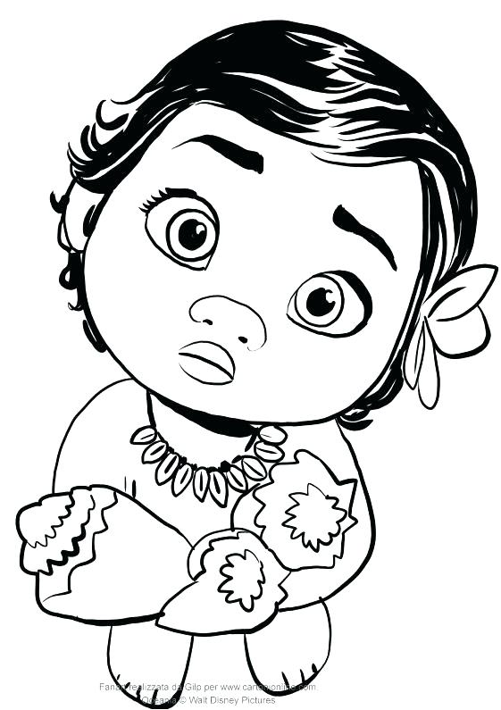 Princess Moana Coloring Pages At Getdrawings Com Free For Personal