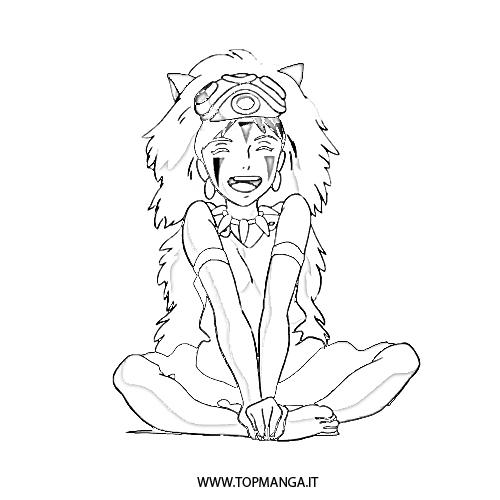 500x500 Princess Mononoke Coloring Pages Best Ideas For Printable