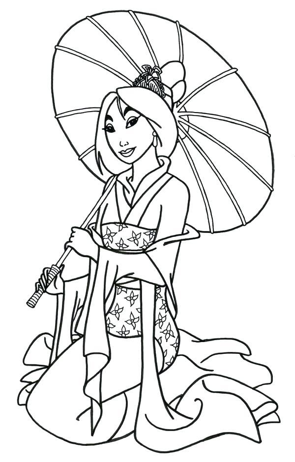 Princess Mulan Coloring Pages