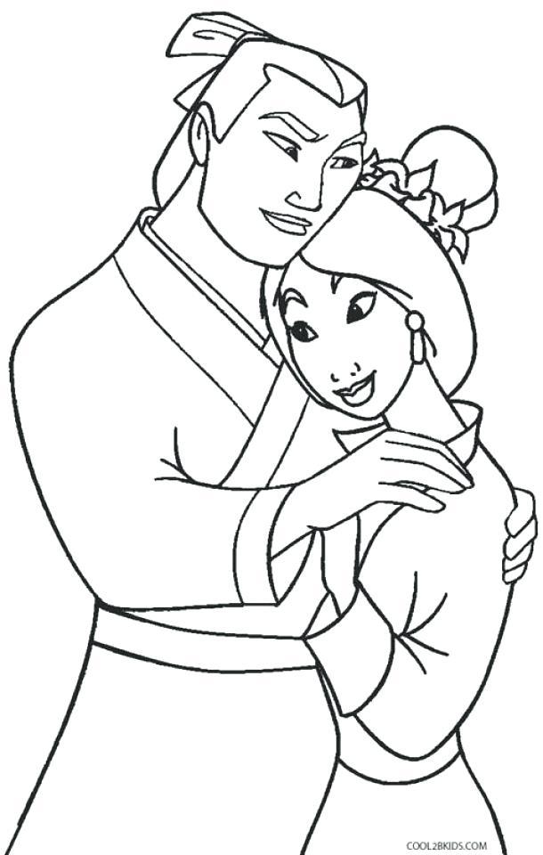 610x960 Mulan Coloring Page Princess Coloring Pages Mulan Coloring Pages