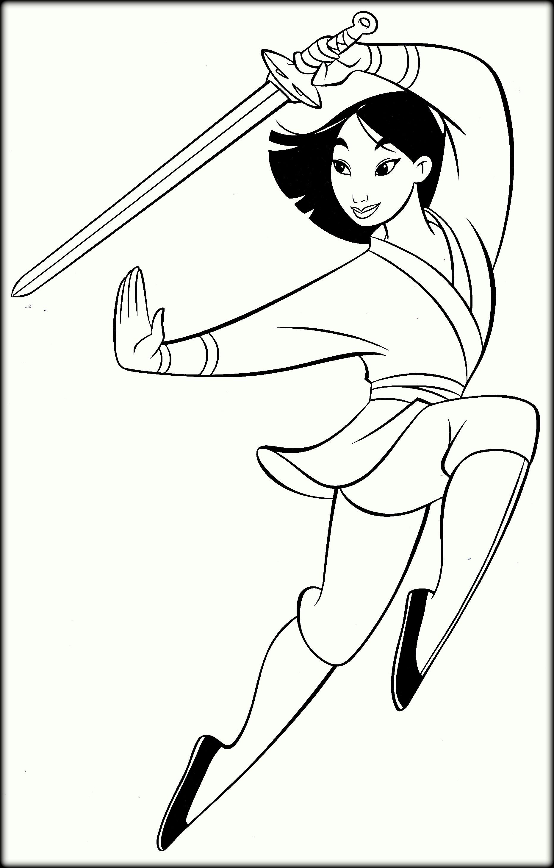 1862x2916 Mulan Coloring Pages Warrior For Kids Unique Disney Princess Mulan