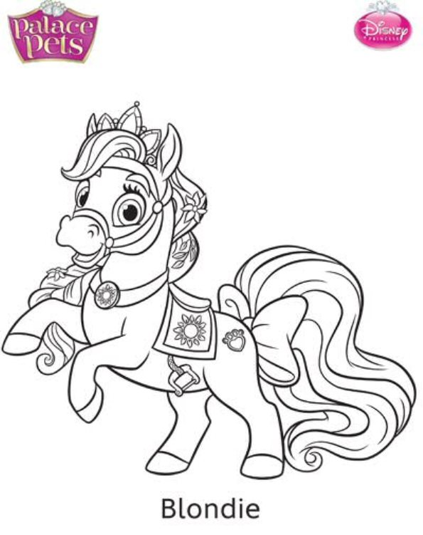 595x751 Kids N Coloring Pages Of Princess Palace Pets