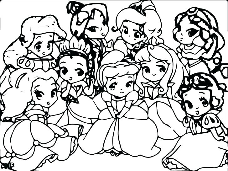 728x545 New All Princesses Coloring Pages On Print With Princess Palace