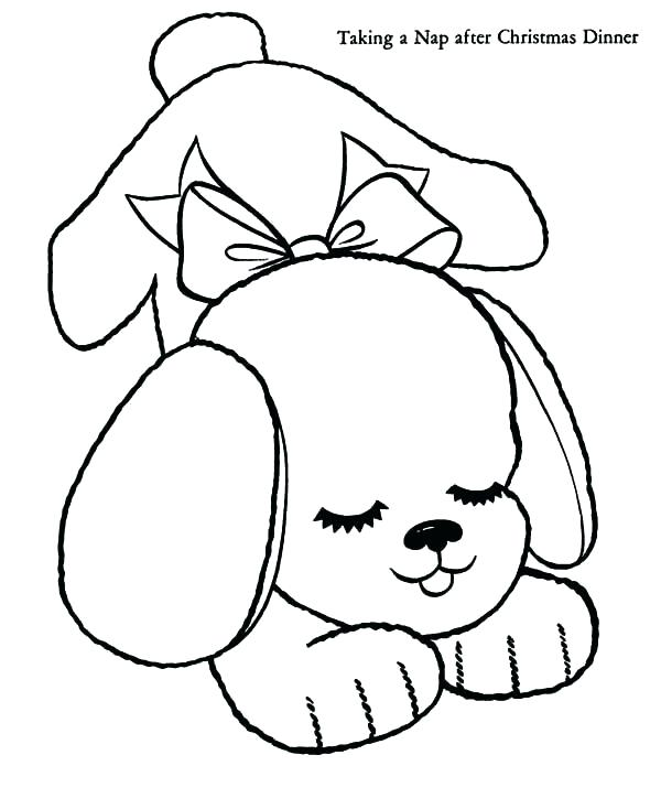 600x734 Coloring Page Of A Puppy Coloring Page Of A Puppy Free Coloring