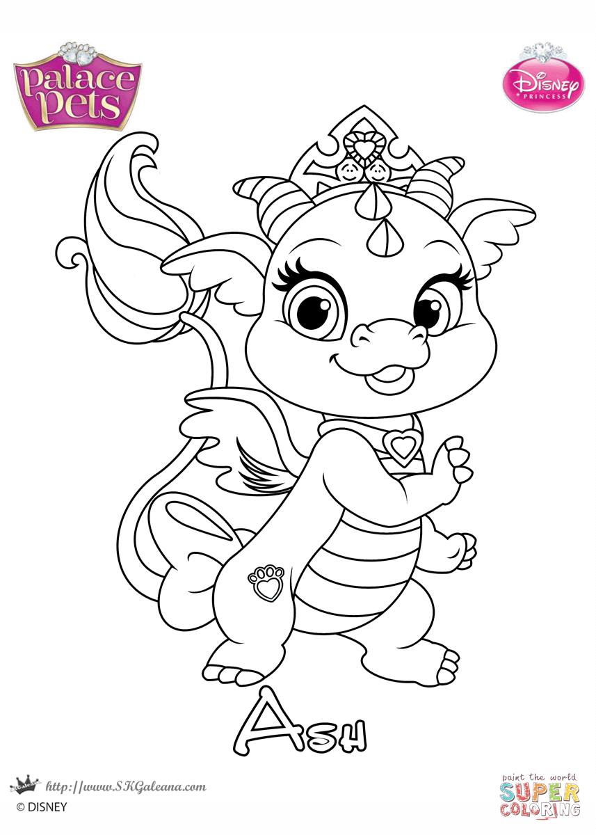 857x1200 Princess Palace Pets Coloring Pages Ash Princess Coloring Page