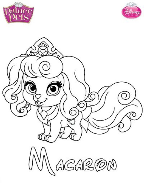 595x768 Princess Pets Coloring Pages Kids N Fun Coloring Pages