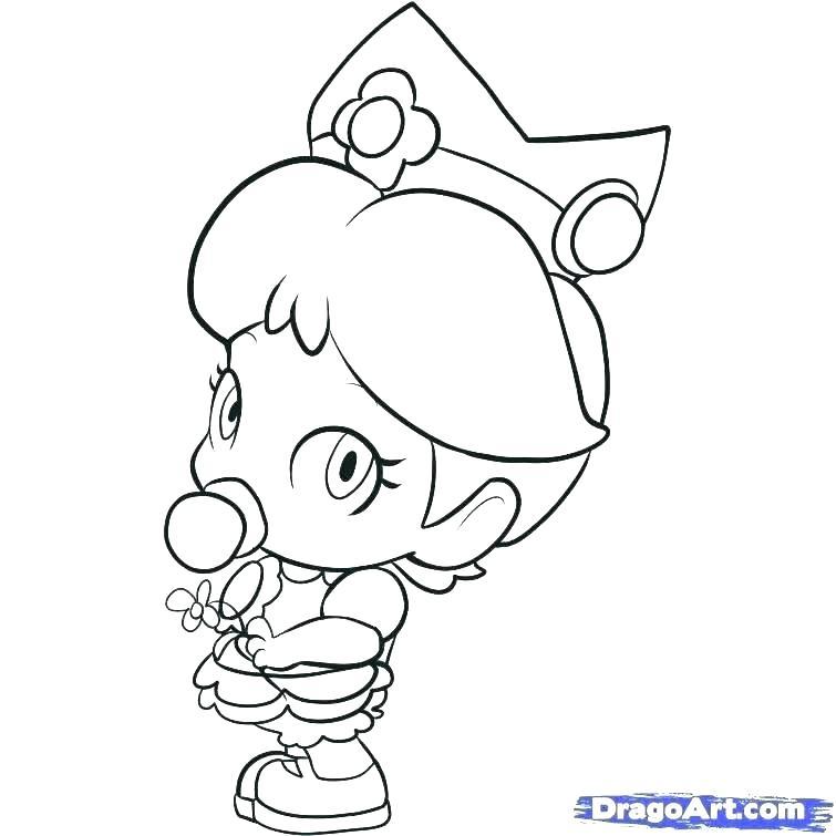 755x755 Daisy Coloring Pages Daisy Coloring Pages Princess Daisy Coloring