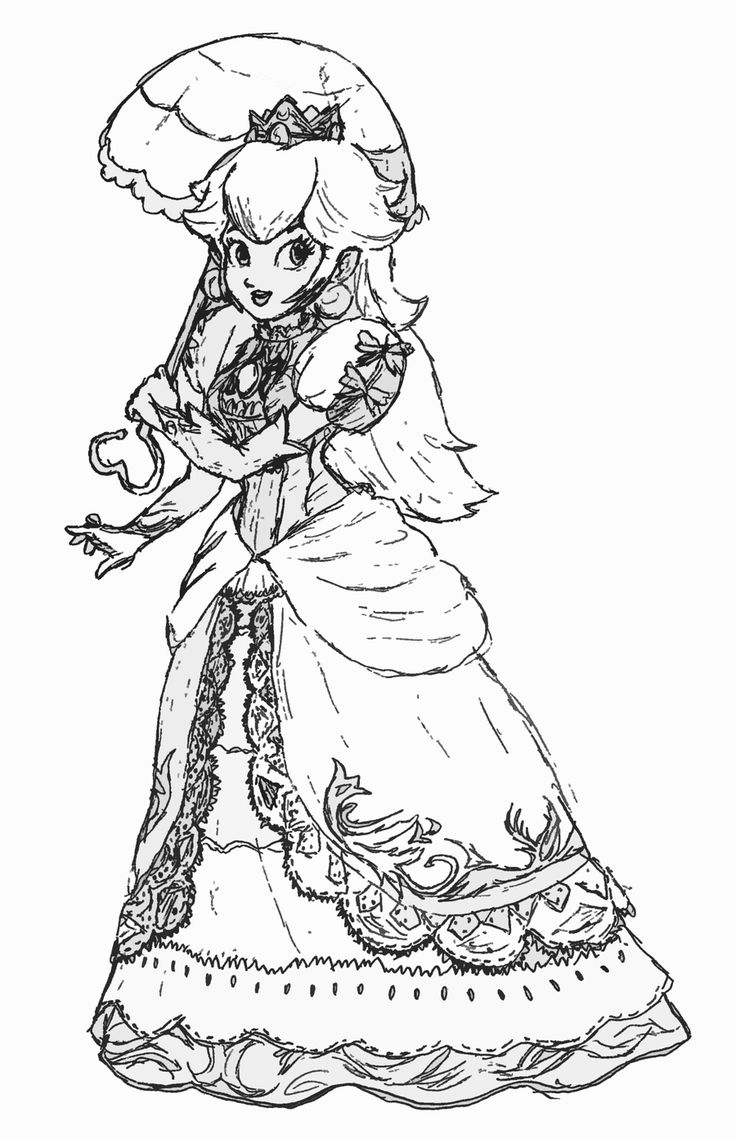 Princess Peach Daisy And Rosalina Coloring Pages