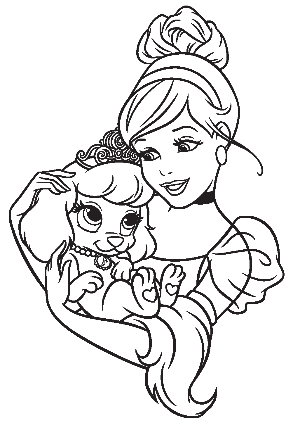 Princess Pets Coloring Pages