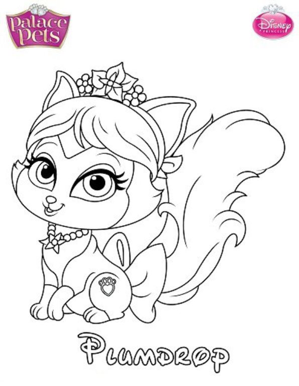 595x768 Kids N Coloring Pages Of Princess Palace Pets