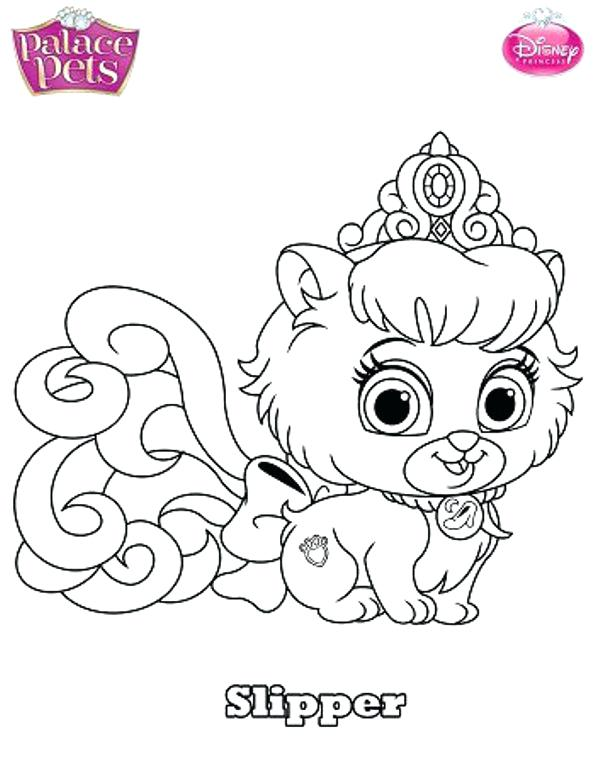 595x768 Pet Coloring Pages Princess Palace Pets Coloring Pages Free