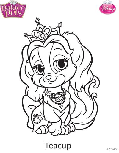 400x514 Princess Palace Pets Teacup Coloring Page