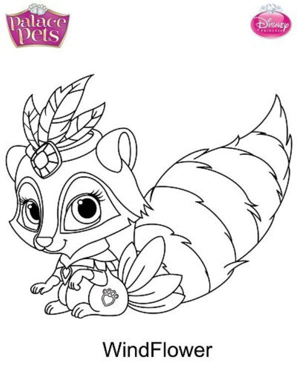 595x768 Princess Pets Coloring Pages