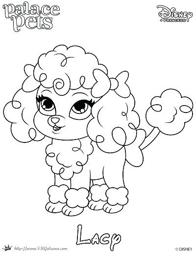 400x517 Princess Pets Coloring Pages Free Coloring Page Featuring Lacy