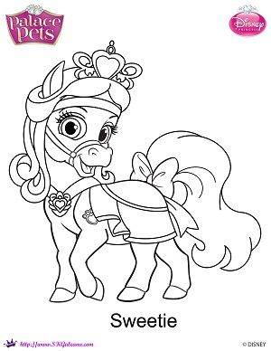 300x388 Palace Pets Coloring Pages