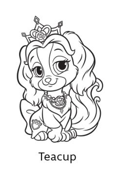 236x354 Free Coloring Page Featuring Lacy From Disney's Princess Palace