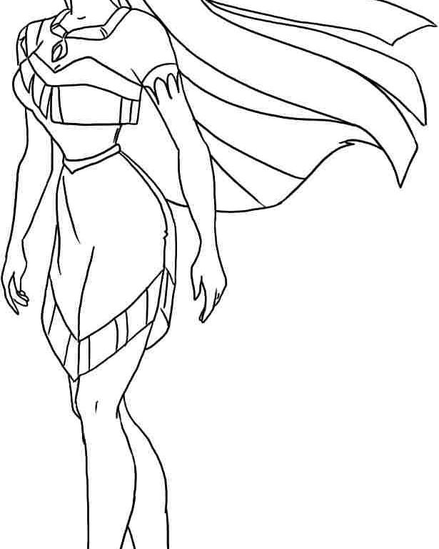 Princess Pocahontas Coloring Pages