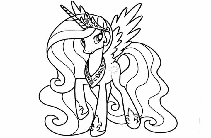 720x470 My Little Pony Princess Coloring Pages