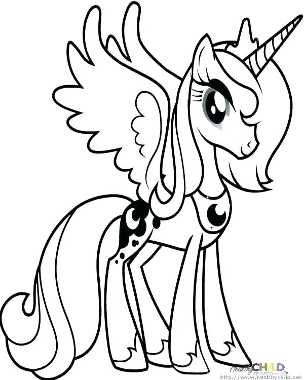 600x750 My Little Pony Princess Coloring Pages My Little Pony Coloring