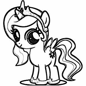 300x300 Best My Little Pony Coloring Pages Free Printable