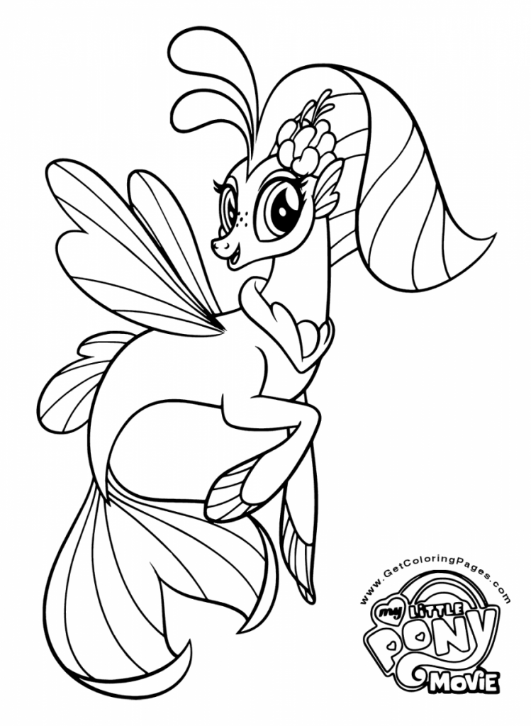749x1024 My Little Pony The Movie Coloring Page Princess Skystar Seapony