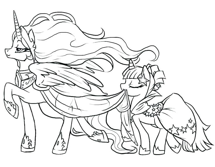 736x572 Princess And Pony Coloring Pages
