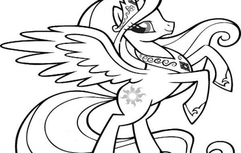 470x300 Coloring Pages Princess Pony