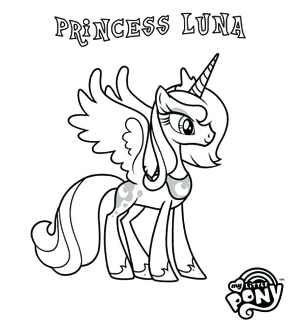 600x676 Princess Pony Coloring Pages