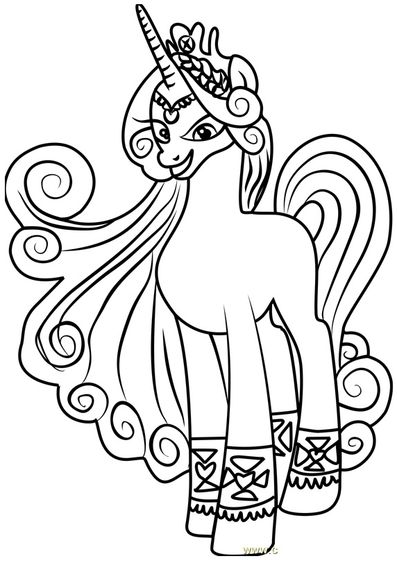 572x834 My Little Pony Coloring Pages
