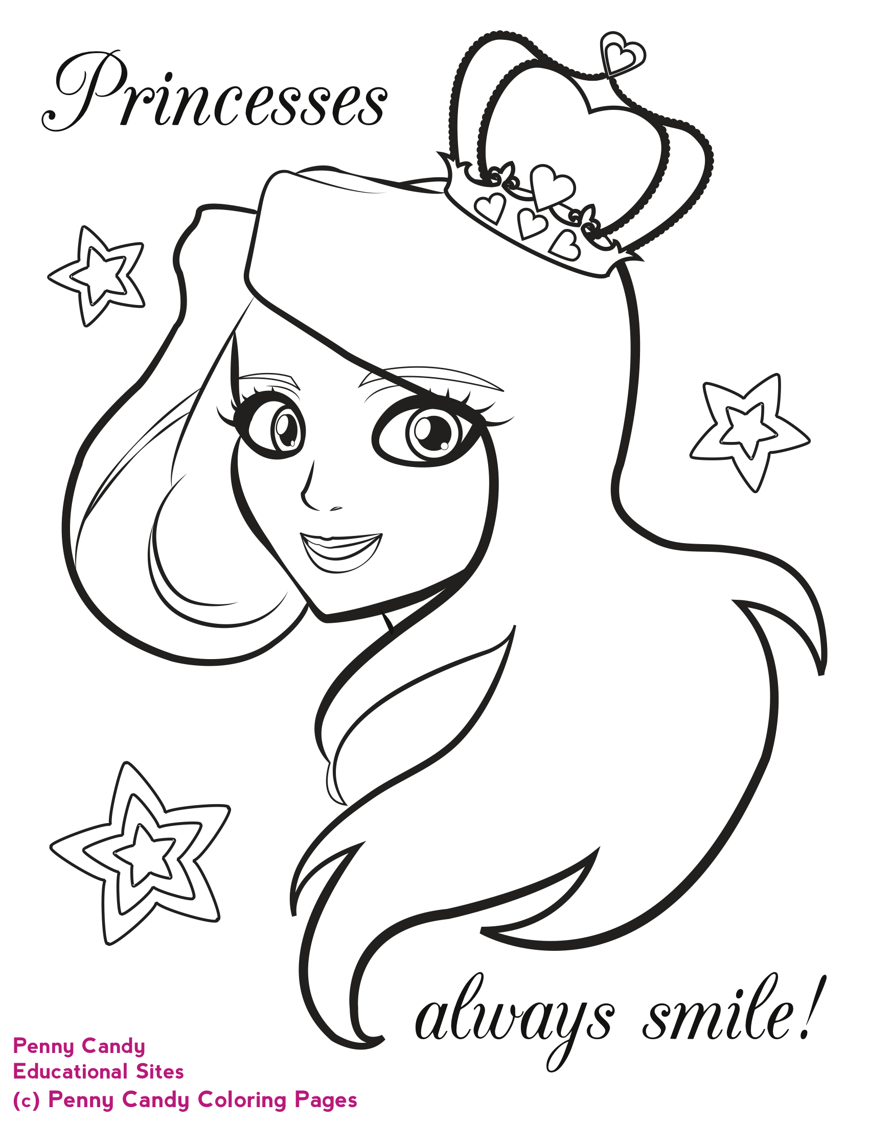 1700x2200 Princess Coloring Pages Penny Candy Coloring Pages