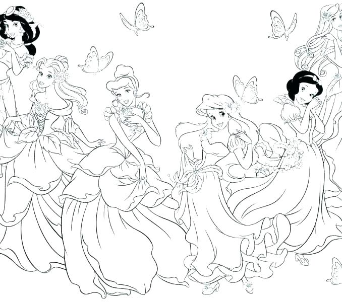 678x600 Printable Coloring Pages Princess Coloring Pages Coloring