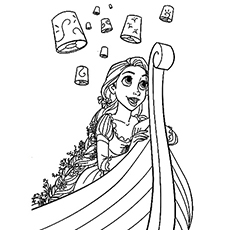 Princess Rapunzel Coloring Pages
