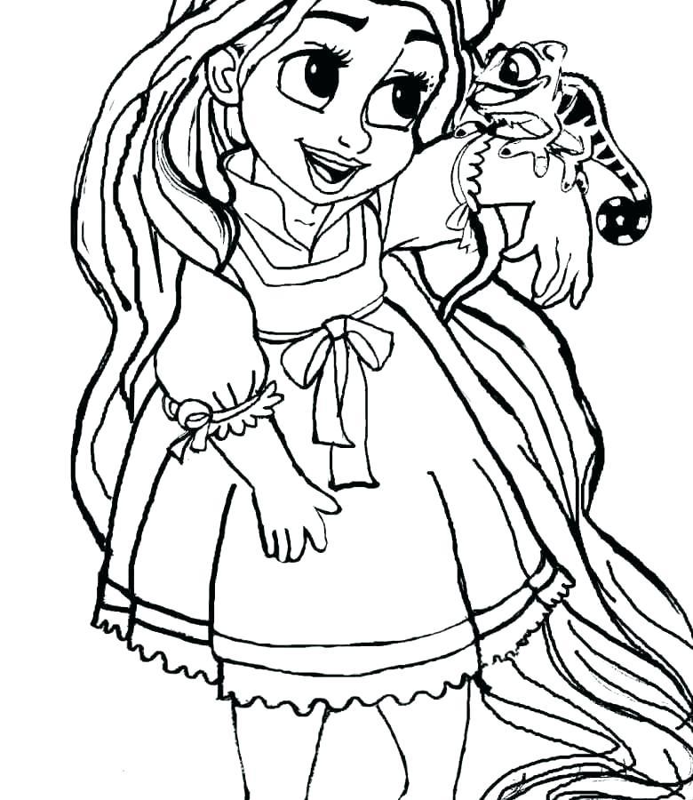 780x900 Rapunzel Color Pages Color Pages Painting Baby Princess Rapunzel