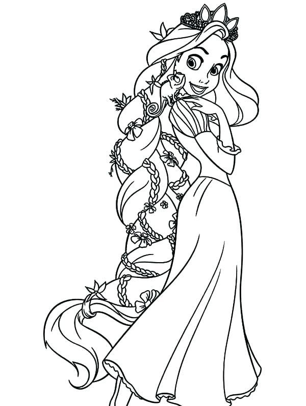 600x796 Rapunzel Coloring Page Princess Coloring Page Baby Rapunzel
