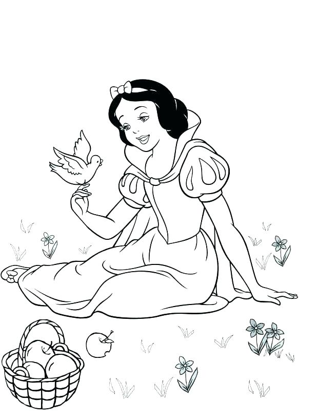 618x816 Dwarfs Coloring Pages Princess Snow White Coloring Pages Games