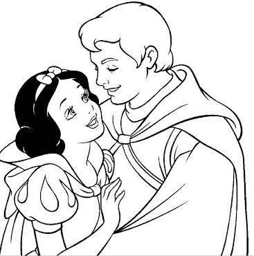 367x370 Princess Snow White Coloring Pages Drawing Board Weekly